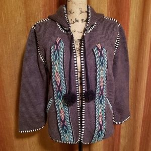 Gypsy 05 Open Front Cotton Hooded Cardigan